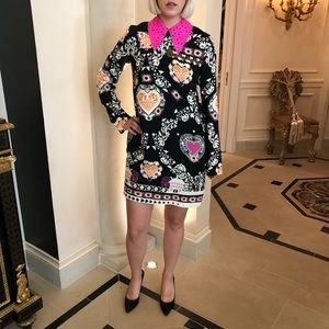 MSGM Long Sleeve Cocktail Dress